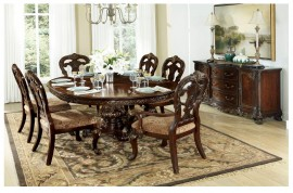 Ovall Table + 4 side Chair + 2 Arm Chair