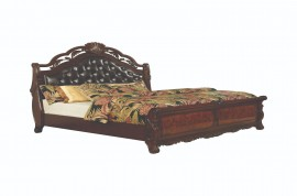 Exeter Tufted Upholstered Sleigh Bed