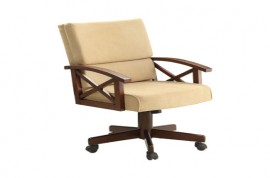 Marietta Upholstered Game Chair Tobacco And Tan