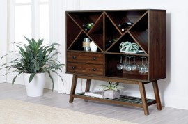 2-Drawer Wine Cabinet Desert Teak