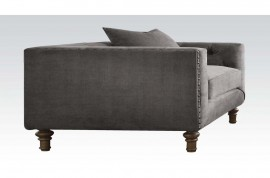 Sidonia Chair w/1 Pillow - Gray Velvet
