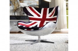 Brancaster Accent Chair - Pattern Fabric & Aluminum