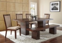 Briana Camel 6 Piece Set(Table, Bench & 4 Side Chairs)