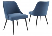 Colfax Side Chair Blue - set of 2