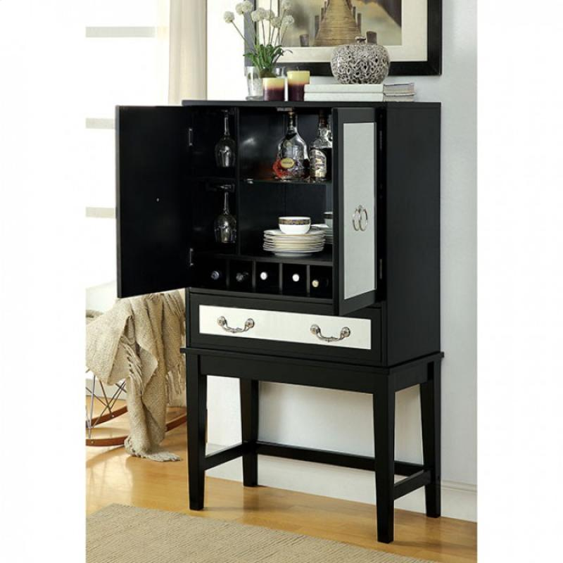 Furniture of America Caris Wine Cabinet