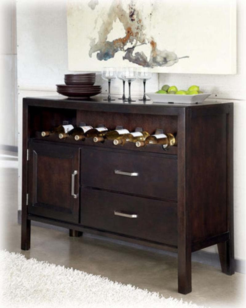 Dining Room Server Trishelle - Dark Brown Collection Ashley