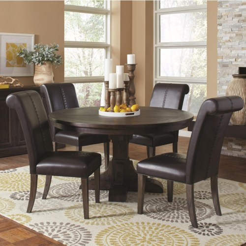 CF-Weber Traditional Round Table and Chair Set