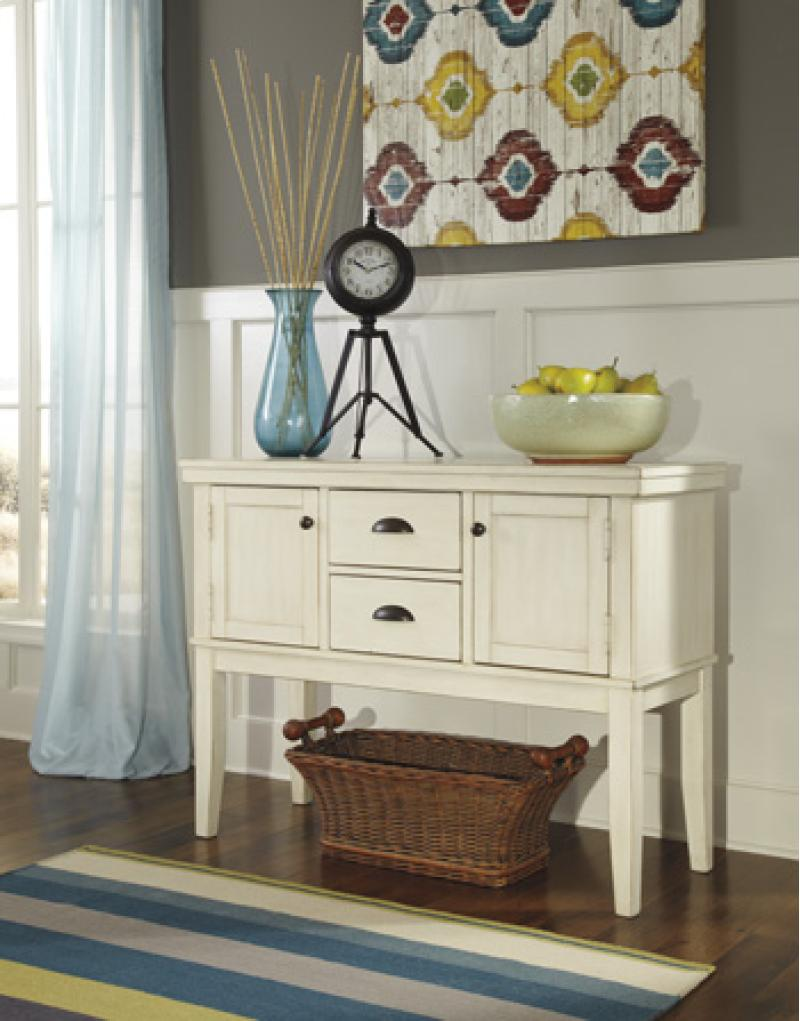 Dining Room Server Arrowtown - White Collection Ashley