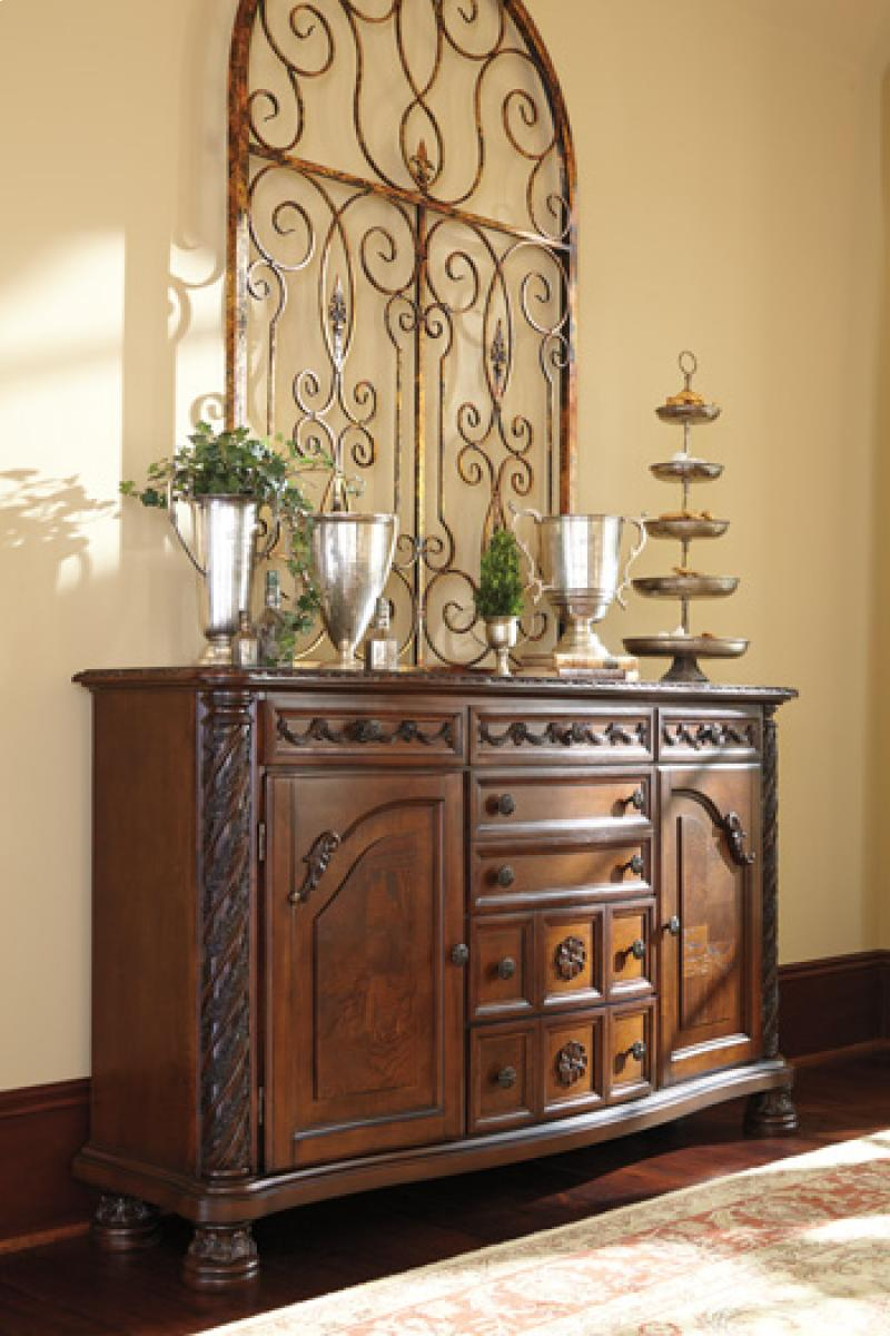 Dining Room Server North Shore - Dark Brown Collection Ashley