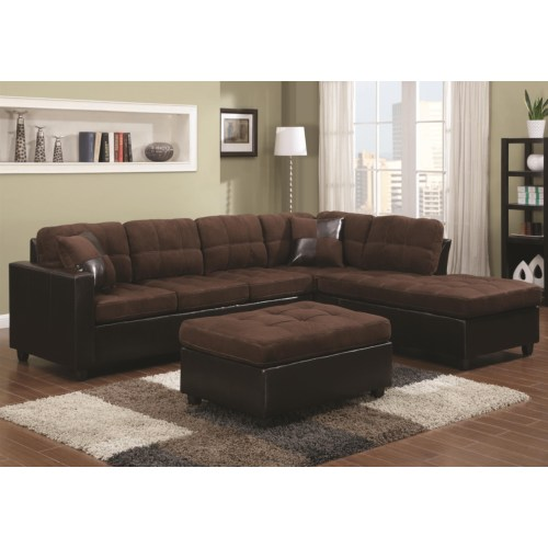 CF-Mallory Reversible Sectional with Casual and Contemporary Style