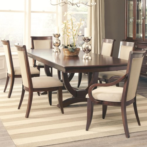 CF-Alyssa Dining Table and 4 Side Chair and 2 Arm Chair Set