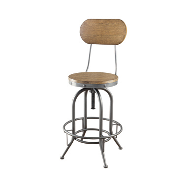 Adjustable Bar Stools Weathered Brown And Graphite