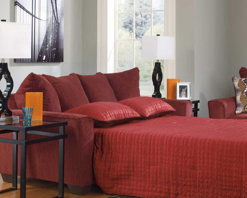 Queen Sofa Sleeper Brogain - Burgundy Collection Ashley