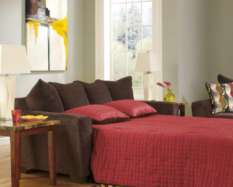 Queen Sofa Sleeper Brogain - Walnut Collection Ashley