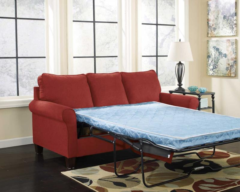 Full Sofa Sleeper Zeth - Crimson Collection Ashley