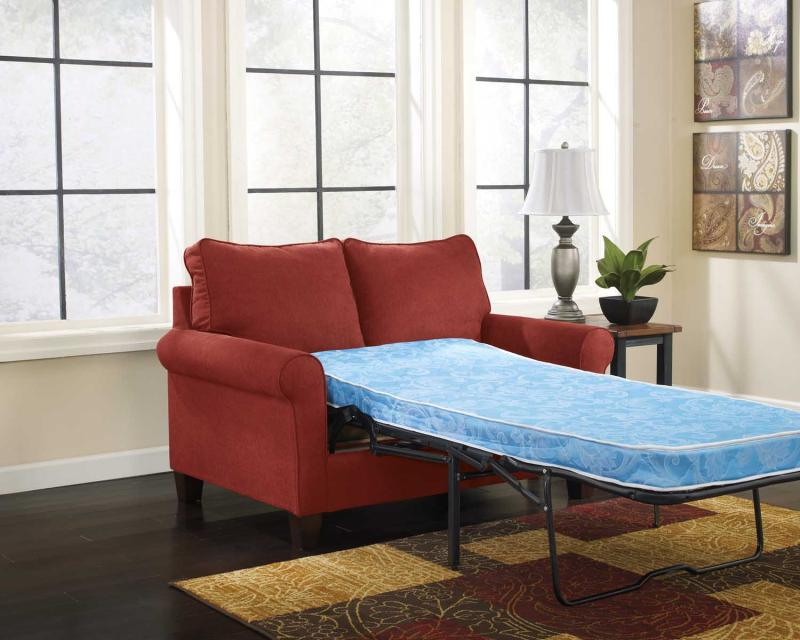 Twin Sofa Sleeper Zeth - Crimson Collection Ashley