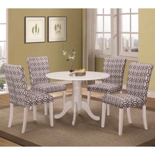 CF-Allston Round Pedestal 5 Pc Table & Chair Set