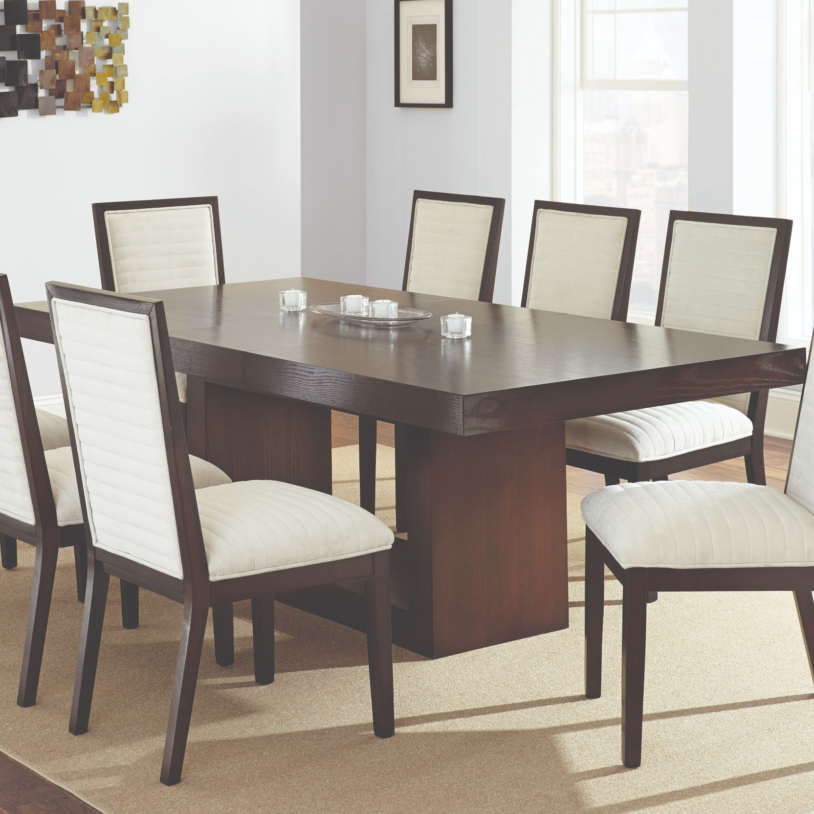 Antonio 7 Pc Dining Set - Beige