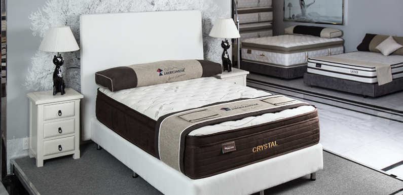 QUEEN CRYSTAL POCKET COIL PLUSH TOP MATTRESS