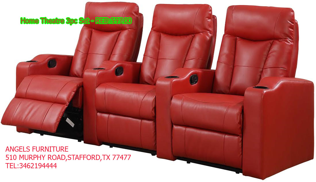 Home Theatre 3pc Set - RED