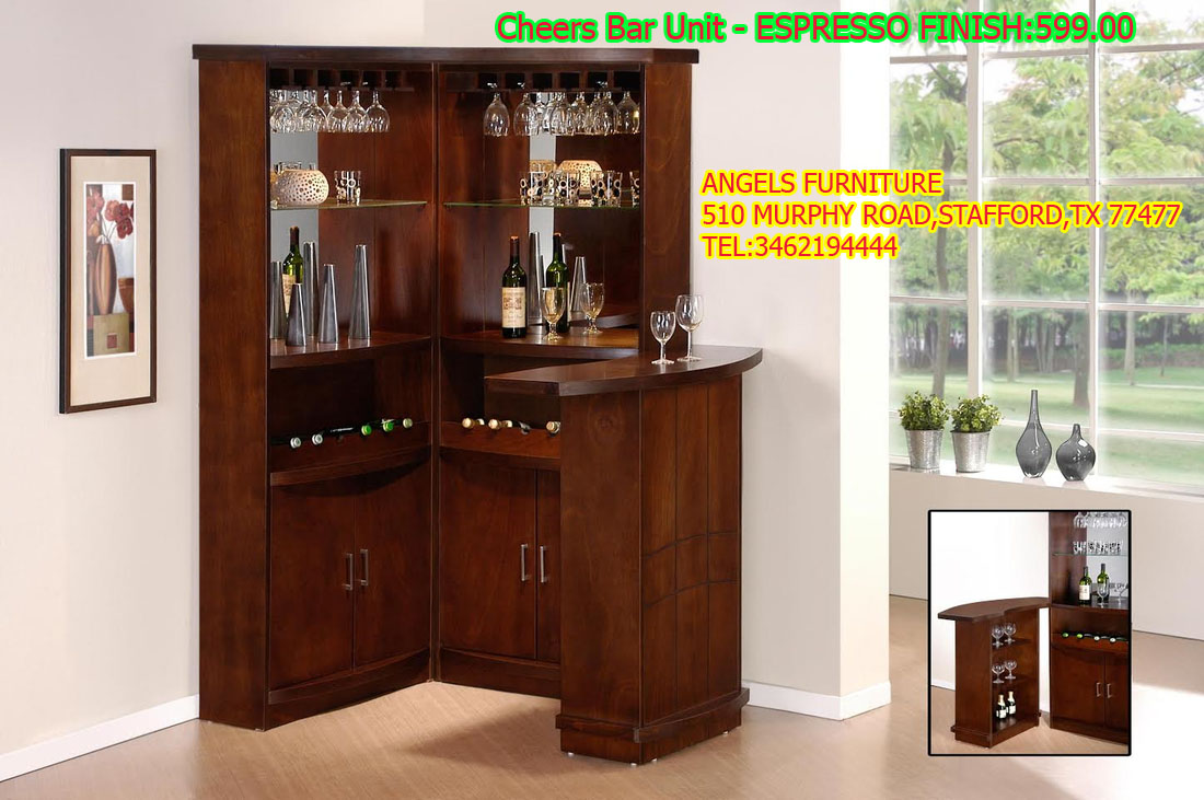 Cheers Bar Unit - ESPRESSO FINISH